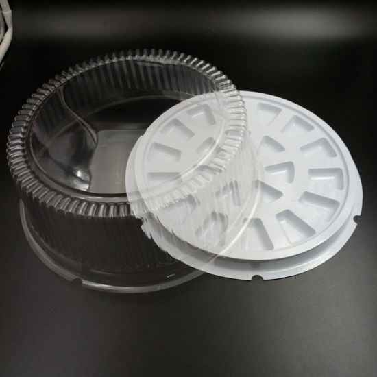 Plastic Weeding Cake Packaging Container with Lid