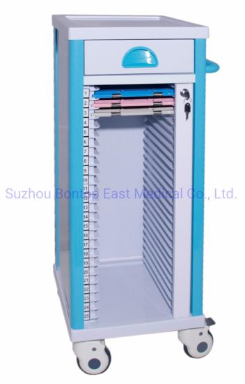Factory Price Hospital Patient File Medicial Record Trolley Case Historical Trolley/Cart ODM OEM