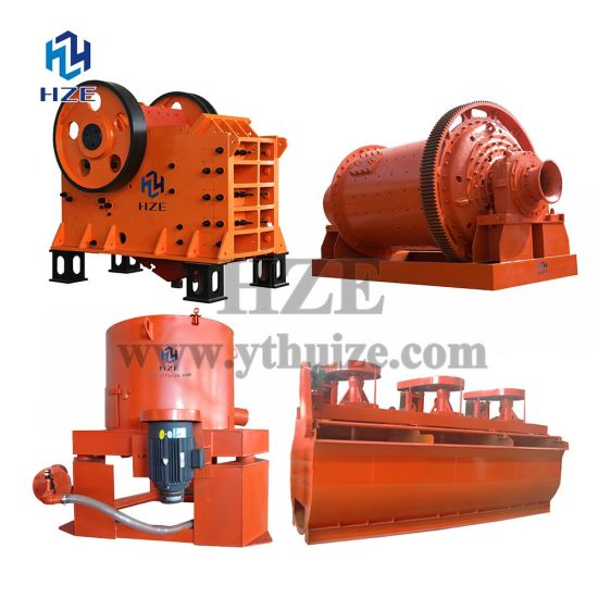 Raw Ore Mineral Processing Gold Mining Equipment