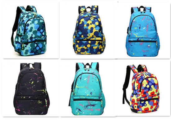 fab758878e79 Teenagers Leisure Backpack Bookbags Multi-Color Printed Kids School Bag  pictures   photos