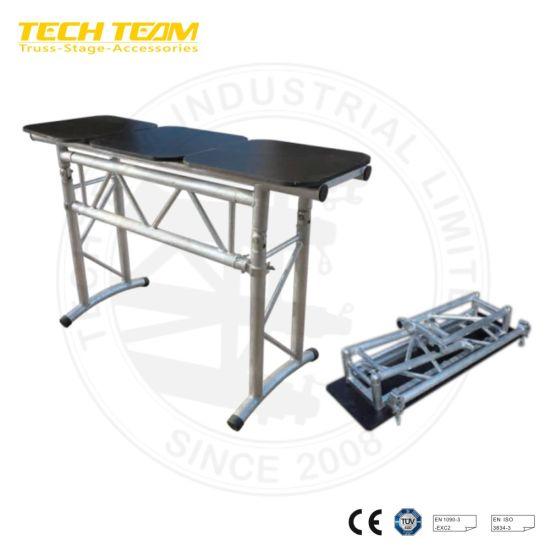 Folding DJ Stage Aluminum Truss Stand DJ Table for Sale