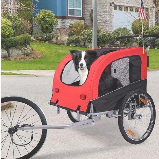 Multifuction Outdoor Foldable Dog Pet Bike Trailer Stroller