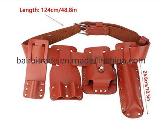 Cow Split Leather Tool Belts Waist Bags Electrical Tools Bags with Belts