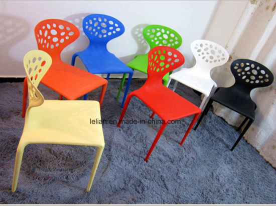 China Colorful Poly Stack Chair For Outdoor Garden Furniture Ll