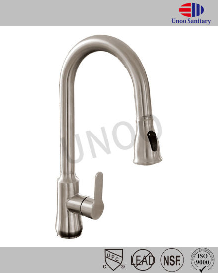 Unoo S/S Kitchen Faucet Watermark Tapware Pull out Kitchen Faucet pictures & photos