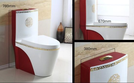 Chaozhou Decorative Colorful Ceramic Wc Toilet Seat / Water Closet pictures & photos