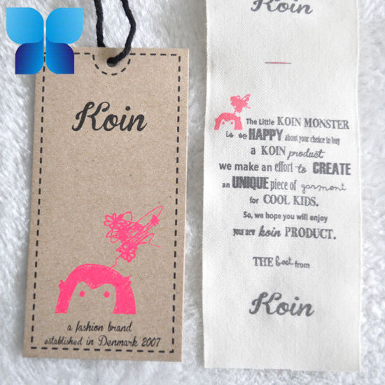 Printed Kraft Hangtag Garment Price Hangtag pictures & photos