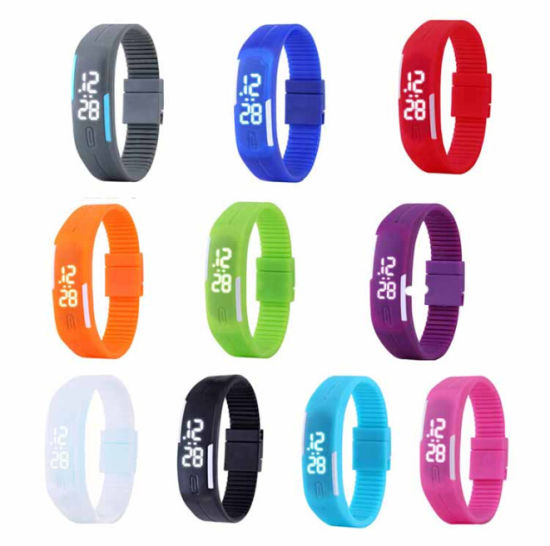 Custom Fashion Digital Wristwatch Cheap Promotion Gift Silicone LED Sport Watch Women pictures & photos