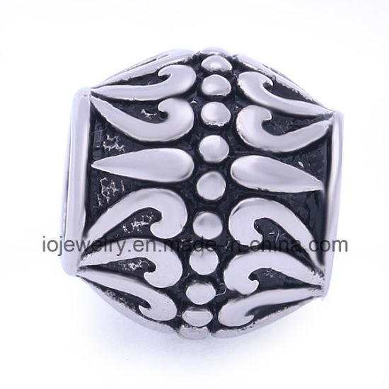 Stainless Steel Vintage Pattern Charm Spacer Beads