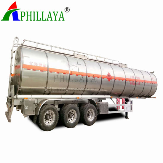 3 Axle Carbon Steel Truck Fuel Oil Water Tank Tanker Semi Trailer with Volume Optional pictures & photos