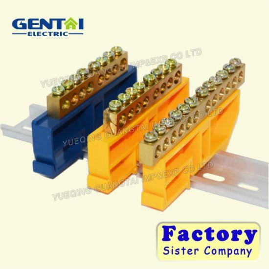 PE Material Terminal Block with Brass Screw