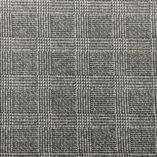 Brushd Jacquard P/R/Sp 85/11/4, 360GSM Yarn Dye Knit Fabric
