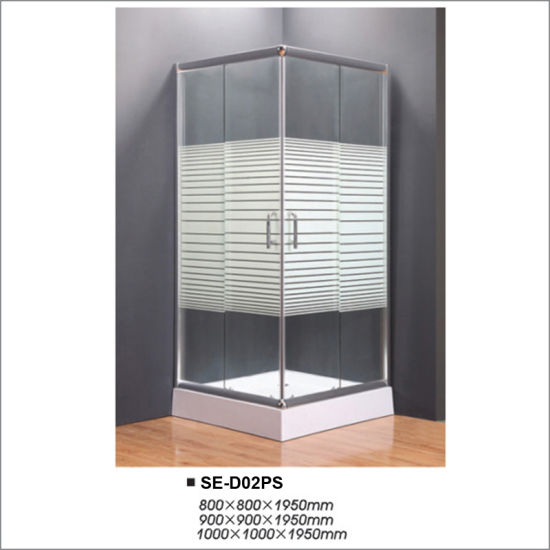 Square Simple Shower Room with Cross Striple Glass pictures & photos