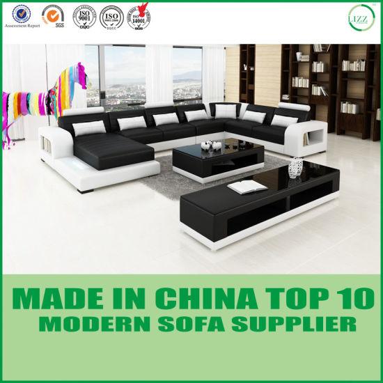 Home Furniture U Shape Leather Corner Sofa