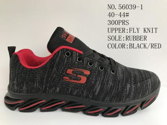 Flyknit Upper material Men Sport Stock From Big Factory