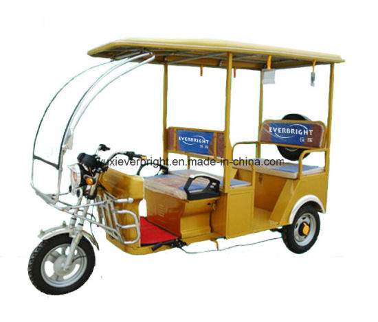 Electric Passenger 3 Wheeler Auto Rickshaw pictures & photos