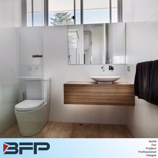 China Melamine Wood Wall Hung Bathroom Vanity Mirror Cabinet