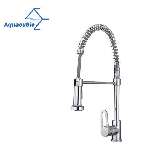 China Aquacubic Hot Sale Spray Head Single Handle Kitchen Sink Faucet Af6084 5 China Faucet Kitchen Faucet