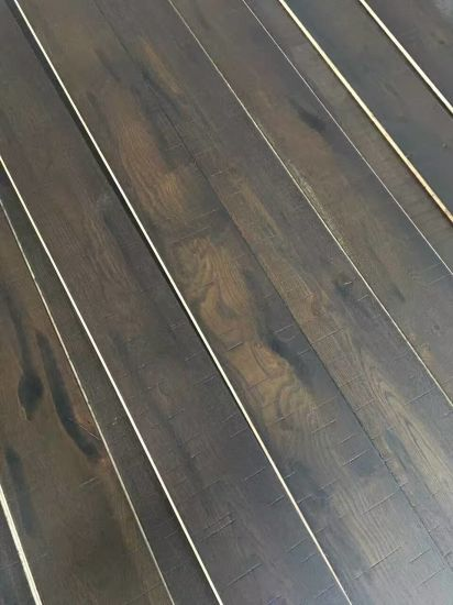Dyeing Black Oak Engineered Wood Flooring pictures & photos
