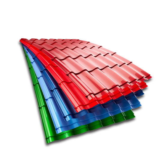 Ral Color Steel T-Shape Embossed Prepainted Galvanized Corrugated Roof Tile