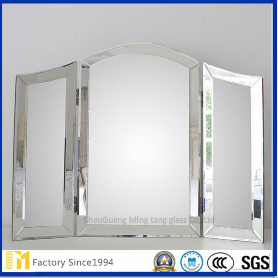 Top Grade 5mm Polished Finish 201 Stainless Steel Framed Mirror For Bathroom