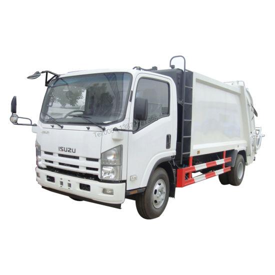 Japan Brand Isuzu 700p 600p 5m3 6m3 Small Garbage Compactor Truck Price Garbage Truck Dimensions