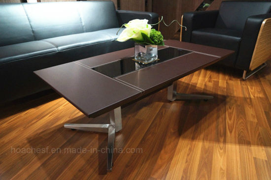 Wooden Tea Table with Stainless Steel (Ca02) pictures & photos