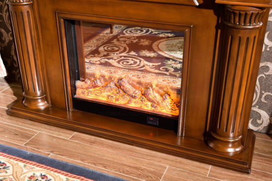 Modern Wood Home Furniture Heater Electric Fireplace with Ce (332B) pictures & photos