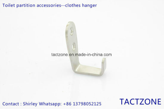 Factory Directly Bathroom Partition Accessories Hardware Cloth Hook