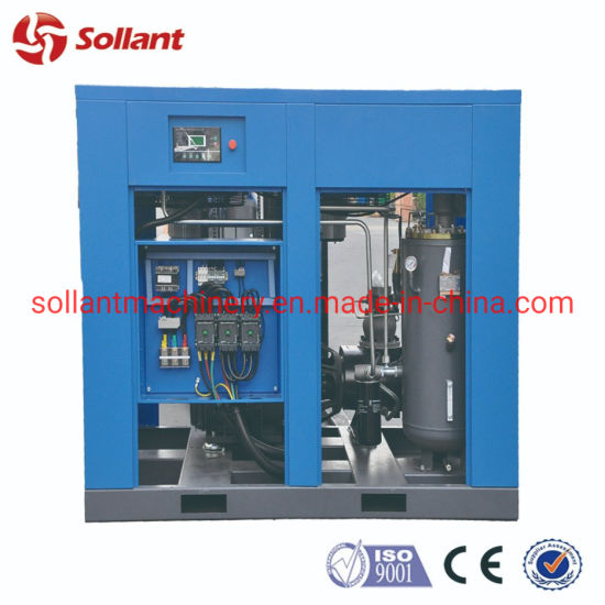 200HP 160kw High Efficiency Direct Coupling Drive Double Fixed Speed Screw Air Compressor