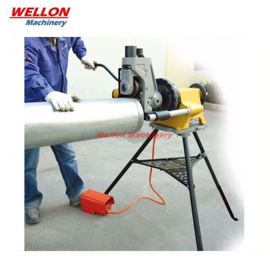 """Hydraulic Pipe Grooving Machine for 2""""-12"""" Steel Pipes (YG12D2)"""