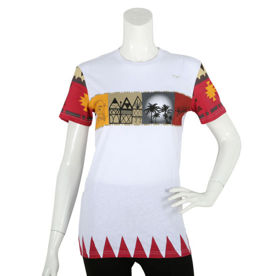 Sublimation Embroidery Print Slim Customized T-Shirts