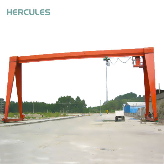 Remote Control Single Beam Gantry Crane with Hook pictures & photos
