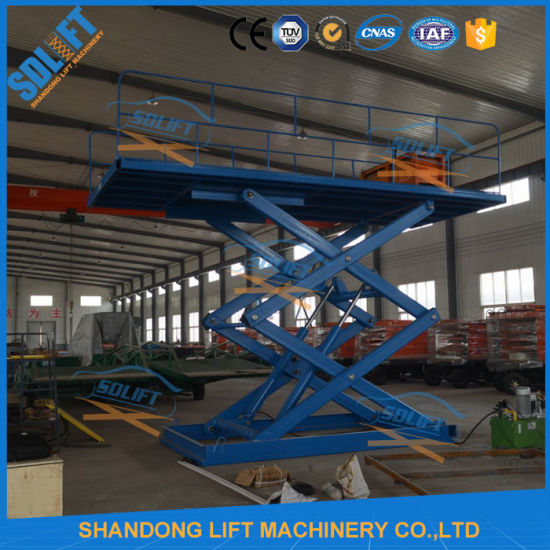 Vertical Smart Hydraulic Cylinder Scissor Car Lift pictures & photos