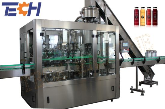 China King Machine Manufacturer Automatic Glass Bottle Liquid Drink Beverage Bottling Equipment 3in1 Filling Machine