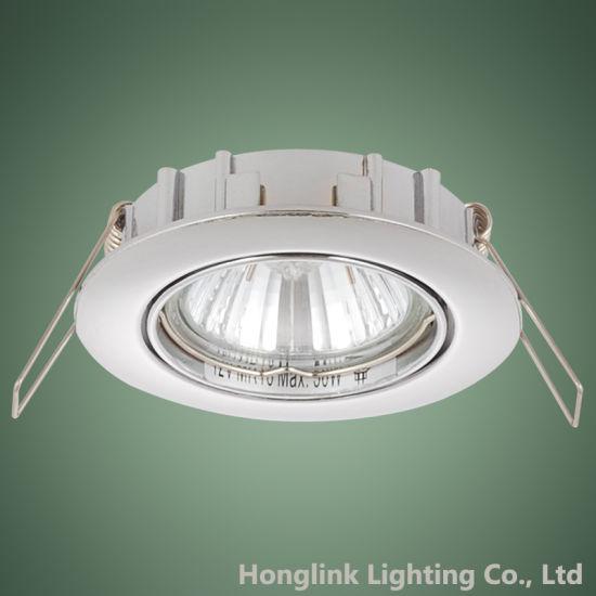 Manufacturer Wholesale GU10 Halogen/LED Brass Recessed Ceiling Light Holder Downlight