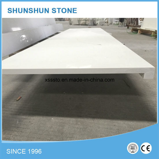 Popular Pure White Quartz Stone Countertops for Kitchen pictures & photos