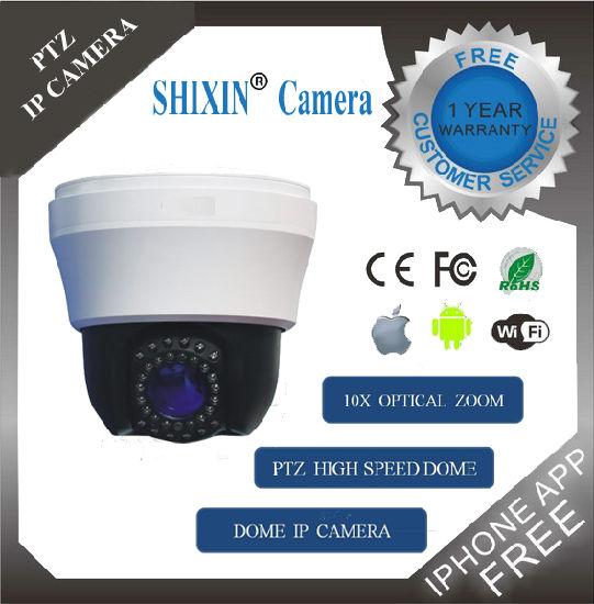 480tvl OSD 10X Optical Zoom CCTV High Speed Indoor Dome CCD Analog Camera (SX-680AD-3)