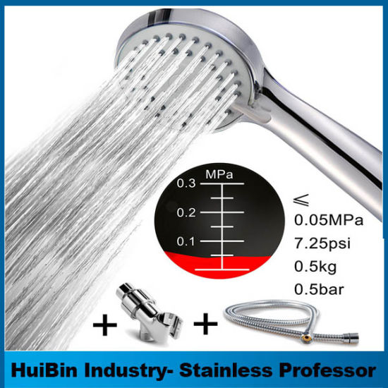 Awesome Simple Style Stainless Steel Bathroom Head Shower Set with Hose&Bracket Pictures - Simple bathroom shower set Beautiful