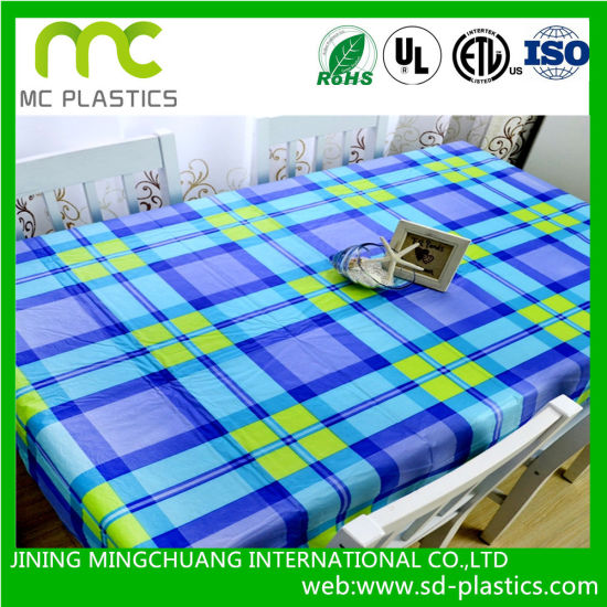 Printed Soft PVC Vinyl Rolls Table Cloth for Table Cover pictures & photos