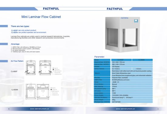 Mini Laminar Flow Cabinet Cj-600p (JUST Protect Products) pictures & photos