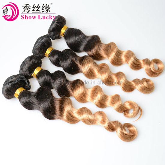 Cheap Malaysian Human Hair Extension Loose Wave Ombre Hair Weaving Hair Pieces Hair Products