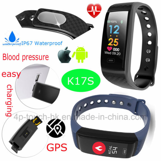 China Fashionable Bluetooth Smart Bracelet With Real Time Health