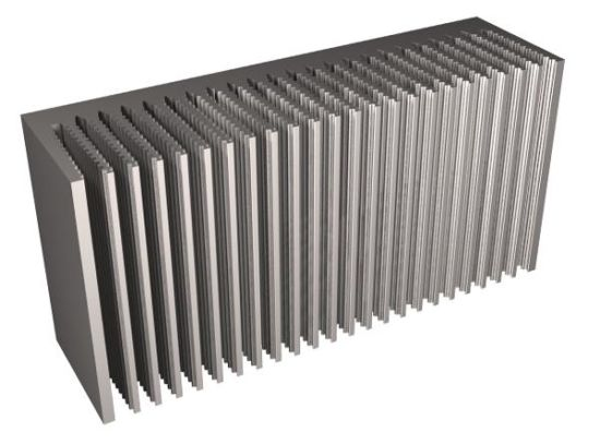 Aluminium/Aluminum Skived Heat Sink with ISO9001: 2008 pictures & photos