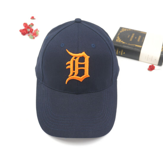 Custom Cotton Baseball Cap with Extended Brim 3D Letter Embroidery Logo bfe526328d60