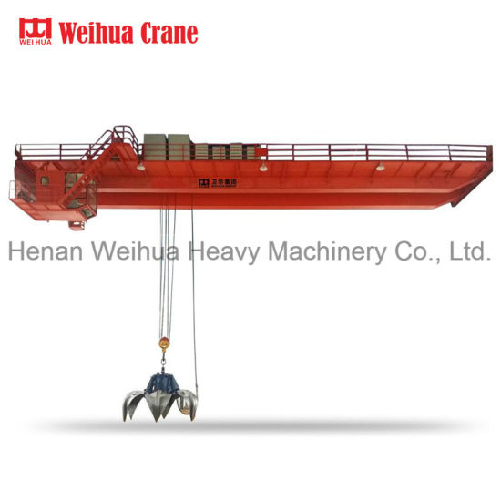 Garbage Double Girder Overhead Crane with Grab