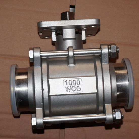 """Stainless Steel 1000wog 1/2"""" Clamped Encapsulated Ball Valve"""