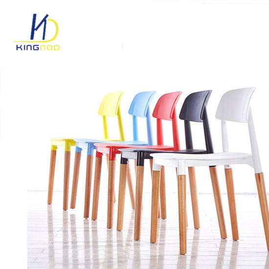 China Replica Modern Italian Design Wood Legs Backrest PP Plastic ...