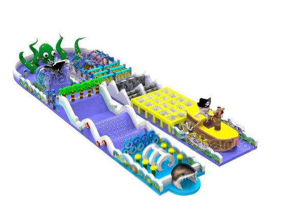 Sea Adventure Inflatable Obstacle Course for Kids Chob538