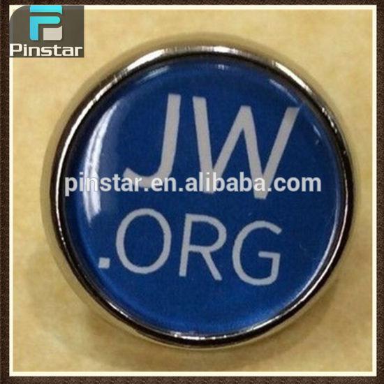 China Jw Org Round Lapel Pin Blue Hat Pin China Jw Org